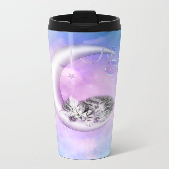 Sweet little kitten Metal Travel Mug