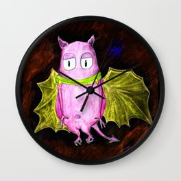 Little Cute Flying Devil Wall Clock