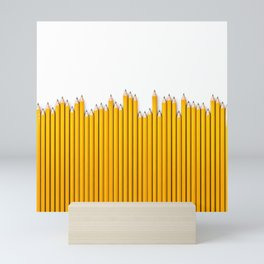 Pencil row / 3D render of very long pencils Mini Art Print