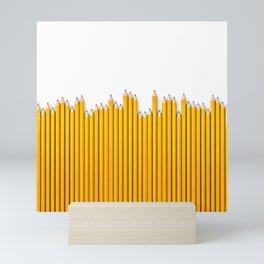 Pencil row / 3D render of very long pencils Mini Art Print