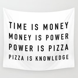 Pizza is Knowledge Wall Tapestry