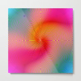 EDM Raver Techno Hynotic Swirl Metal Print
