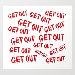 Get Out Horror House Art Print