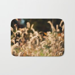 Golden Autumn Grass Bath Mat