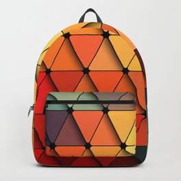 Colorful triangular grid Backpack