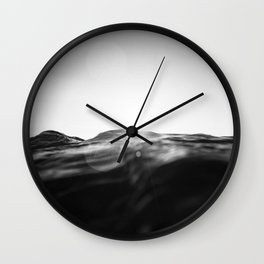 monochromatic sea swell at sunset Wall Clock