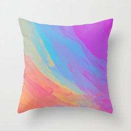 full color summer Throw Pillow