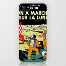 On a marche sur la lune iPhone Case