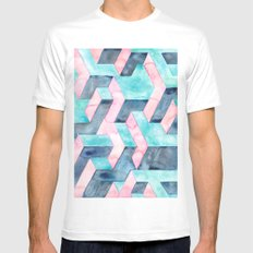 Illusions  MEDIUM White Mens Fitted Tee