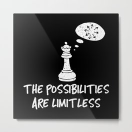 The Possibilities Are Limitless - Cool Chess Club Gift Metal Print