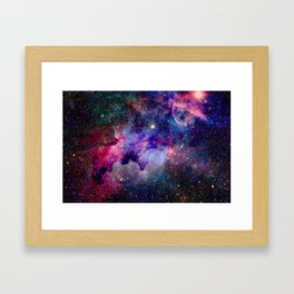 Purple Galaxy Framed Art Print
