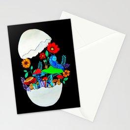Smoking caterpillar | Absolem | Alice in wonderland Stationery Cards