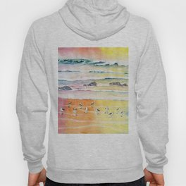 Sandpipers on Beach Hoody