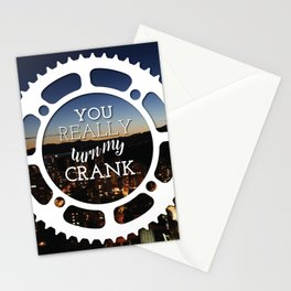 """You really turn my crank"" Stationery Cards"