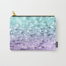 Aqua Purple MERMAID Girls Glitter #1 #shiny #decor #art #society6 Carry-All Pouch