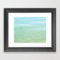 Glisten Shimmering Waves Framed Art Print