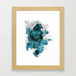 Eagle- turquoise  Framed Art Print
