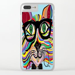 VERY Cool Cat Clear iPhone Case