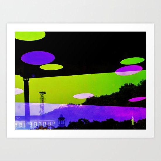 An Altered View of NYC Art Print