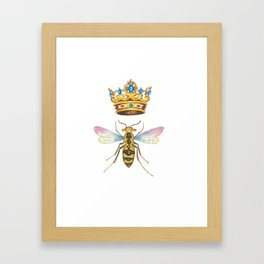 Watercolor Queen Bee, By Heidi Nickerson Framed Art Print