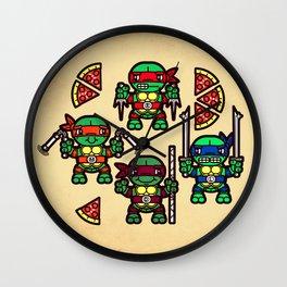 Teenage Mutant Ninja Turtles Pizza Party Wall Clock