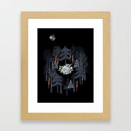 fairytale night forest Framed Art Print