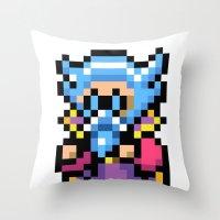 final fantasy Throw Pillows featuring Final Fantasy II - Tellah by Nerd Stuff