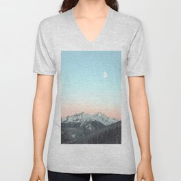 Mountains Landscape Unisex V-Neck