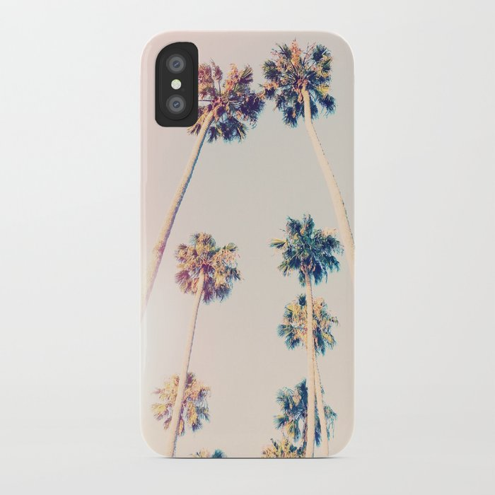 vintage pastel palm trees iphone case