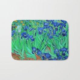 Van Gogh Blue Irises at St. Remy Bath Mat