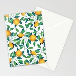 Lemon pattern II Stationery Cards