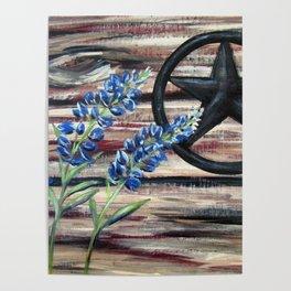 Blue Bonnets Poster