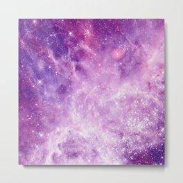 Purple Galaxy Metal Print