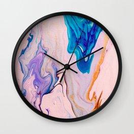 Metallic Marble Wall Clock