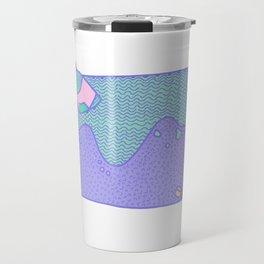 lixo na praia Travel Mug