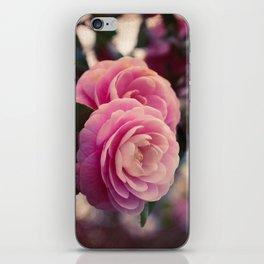 Pink camellia iPhone Skin