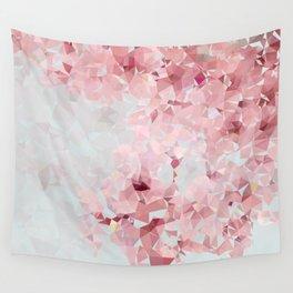 Meshed Up Sakura Blossoms Wall Tapestry