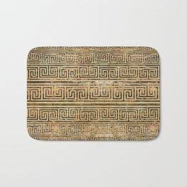Wooden Greek Meander Pattern - Greek Key Ornament Bath Mat