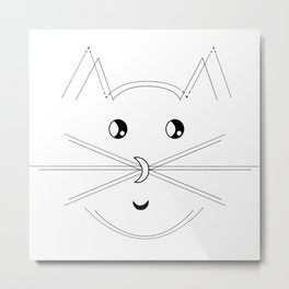 Minimalist Cat Metal Print