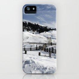 Carol M Highsmith - Snow Covered Hills iPhone Case