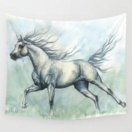 Running arabian horse Wall Tapestry
