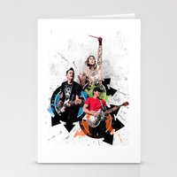 blink 182 Stationery Cards featuring Blink-182 - Tom Delonge, Mark Hoppus, Travis Barker by amy.