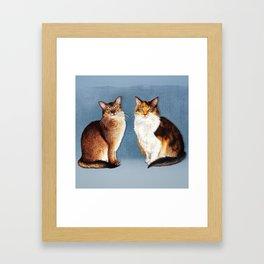 Cute Cats Drawing Framed Art Print