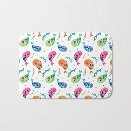 The Happy Fish Pattern Bath Mat
