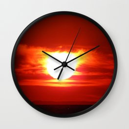 Sunset for Lovers Wall Clock
