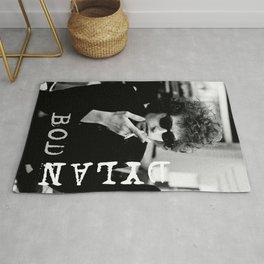 Bob Dylan Vintage Concert Poster Rug