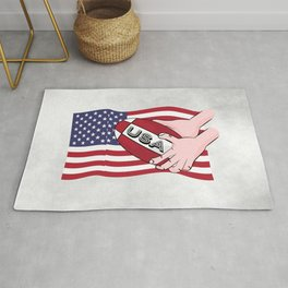 Rugby USA Flag Rug