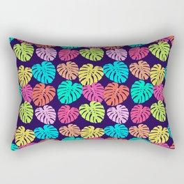 Monstera Deliciosa Print Rectangular Pillow