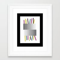birthday Framed Art Prints featuring Birthday by Cassidy Day