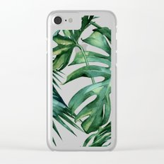 Simply Island Palm Leaves Clear iPhone Case